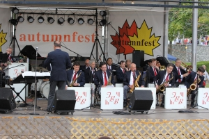 The Fantasy Big Band On Stage at Autumnfest in Woonsocket, RI