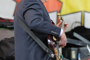 The Heartbeat of the Band. Rick Blair on Bass.