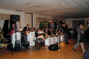 Dancing to the Fantasy Big Band at the Indian Meadows Ballroom.