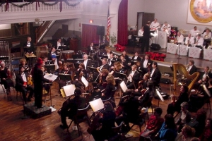 On Stage with the Claflin Hill Symphony Orchestra at Milford Town Hall Ballroom.